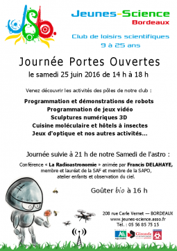 Affiche de la journée portes ouvertes de 2016