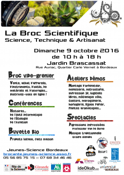 Affiche de la Broc Scientifique de 2016