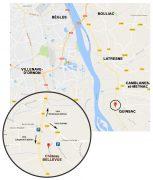 Plan d'accès à Quinsac