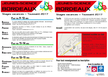 Stages de Toussaint 2017