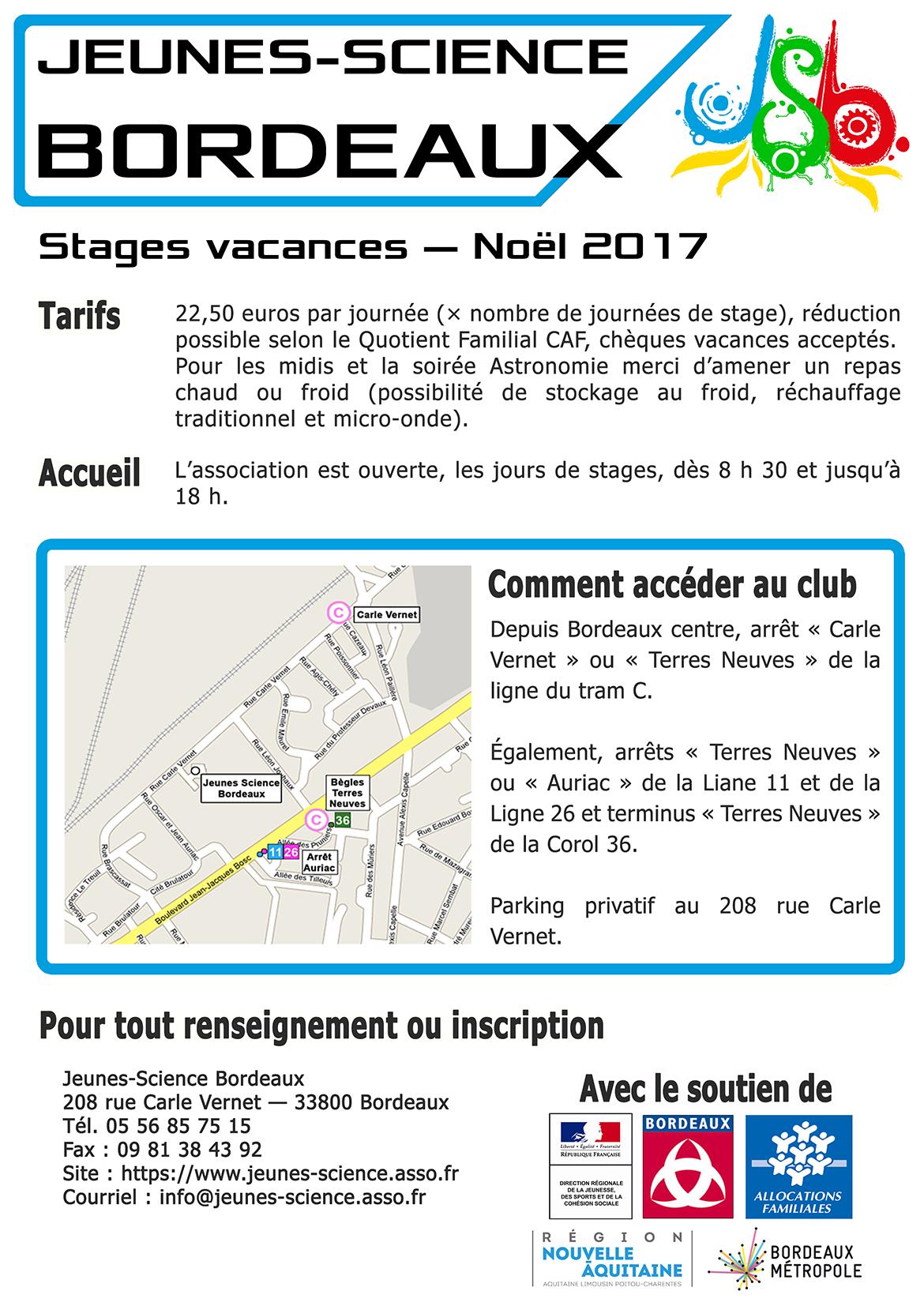 Stages de Noël 2017 verso