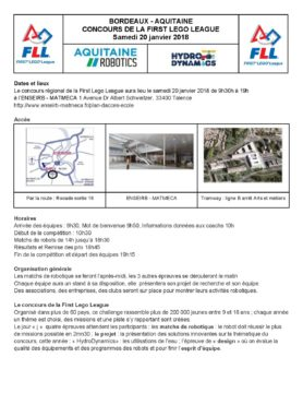 Informations d'organisation FLL