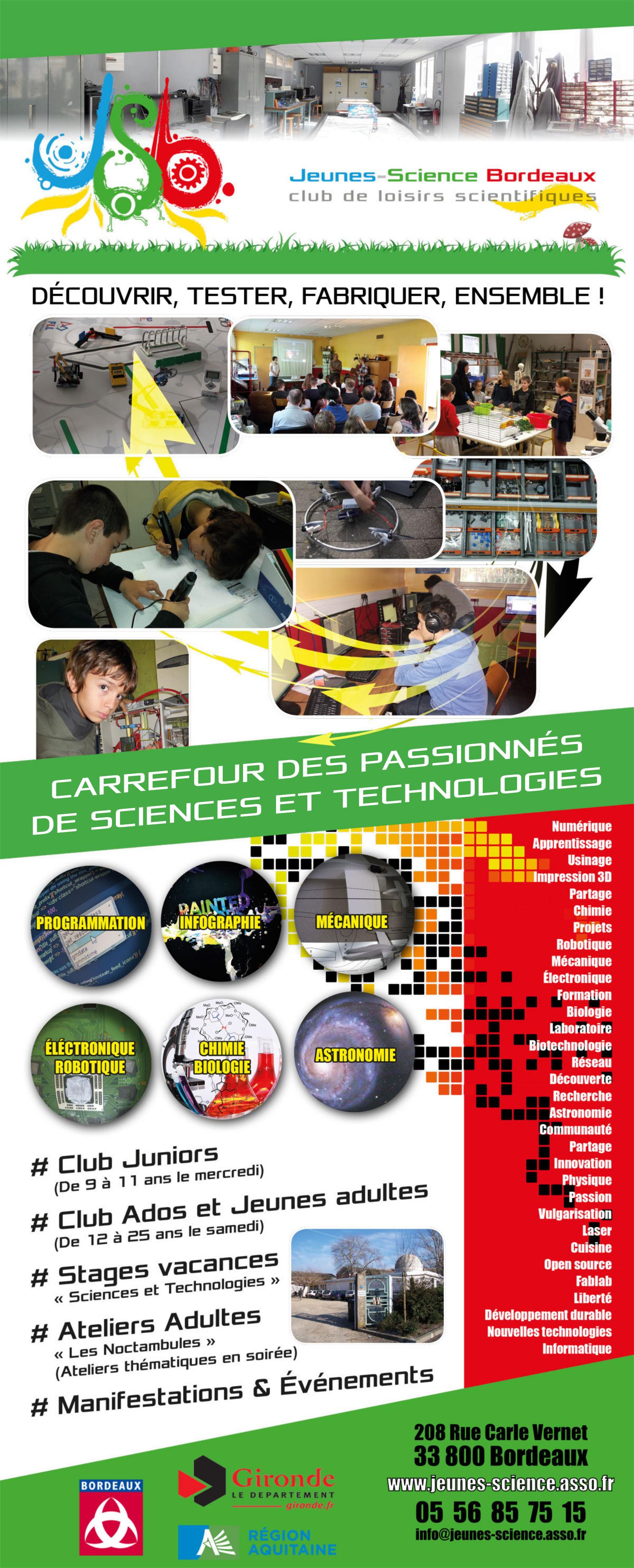 Grande affiche de Jeunes-Science Bordeaux