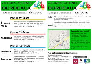 Programme des stages de l'Été 2015