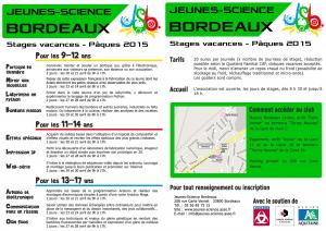 Stages Pâques 2015